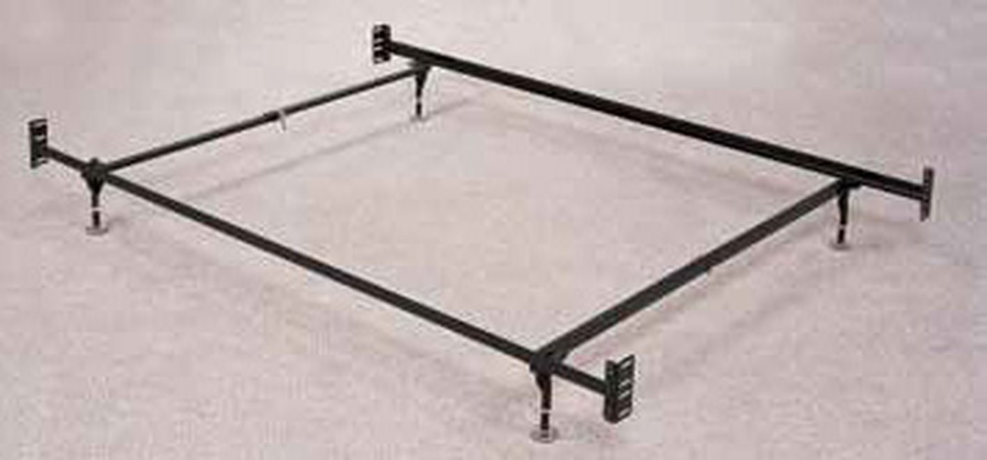 black metal twin or full size bed frame - Full Sized Bed Frames