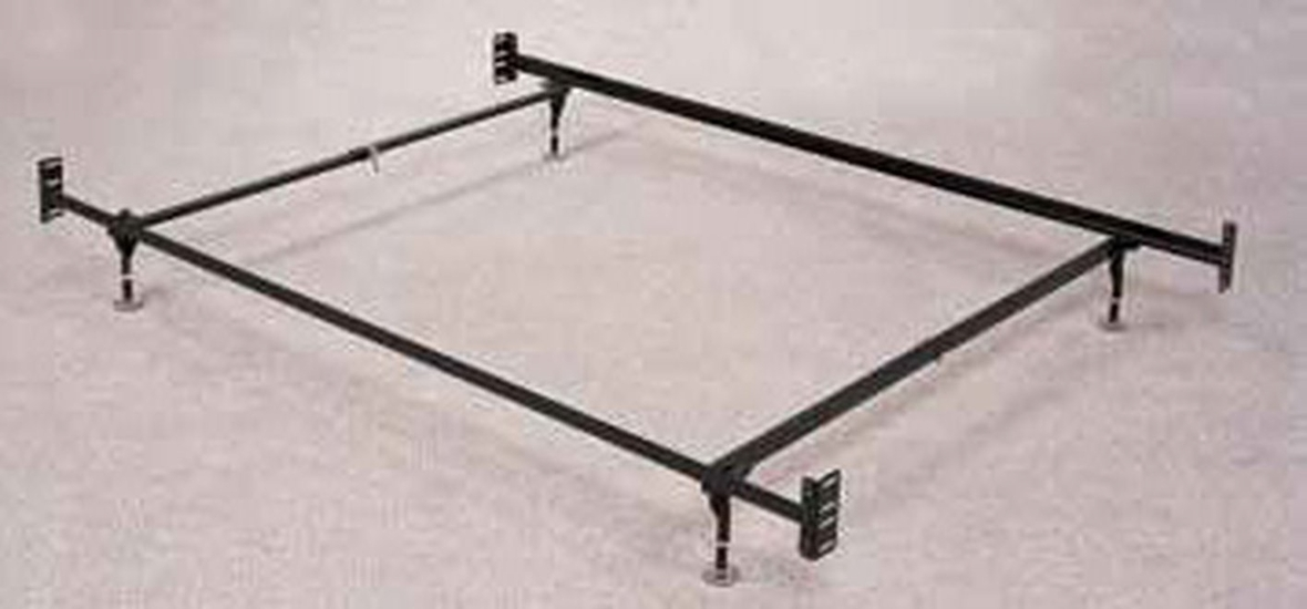 Coaster 1207 black twin or full size metal bed frame for Full size bed frame