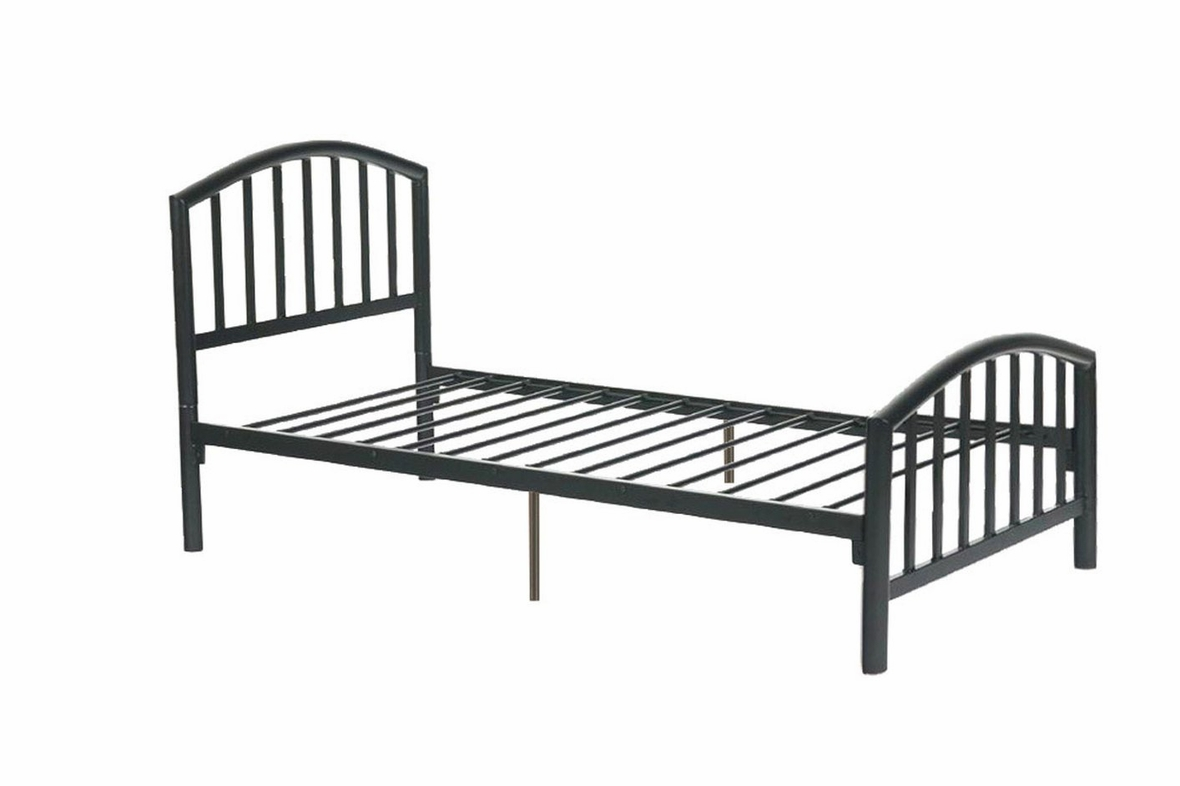 Black Metal Twin Size Bed - Steal-A-Sofa Furniture Outlet Los Angeles CA