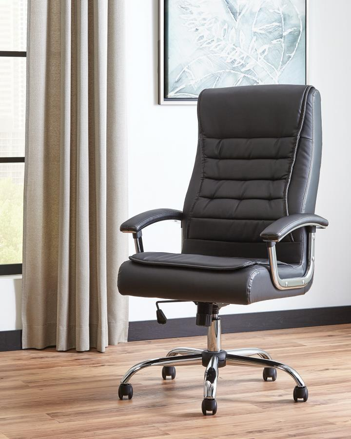 Pvc Office Furniture ~ Black plastic office chair steal a sofa furniture outlet
