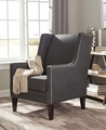 Black Wood Accent Chair