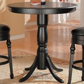 Black Wood Bar Table