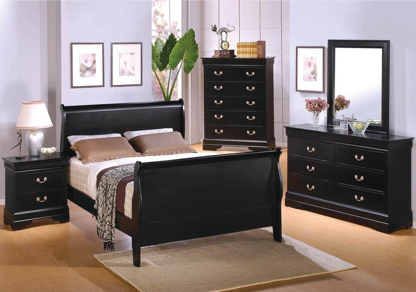 Coaster Black Wood Queen Size Bed Steal A Sofa Furniture