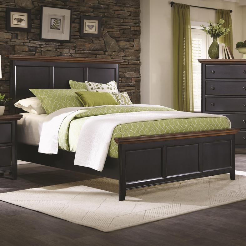 Black wood california king size bed steal a sofa for Bedroom furniture 90036