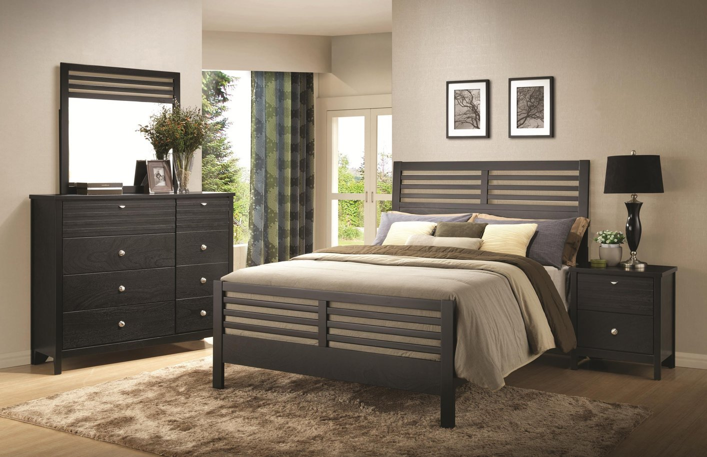 Coaster 202721kw Black California King Size Wood Bed Steal A Sofa Furniture Outlet Los Angeles Ca