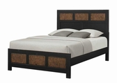 Segundo Black Wood California King Size Bed
