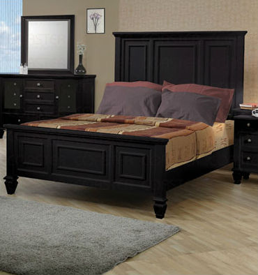 Coaster 201321kw Black Wood California King Size Bed StealA