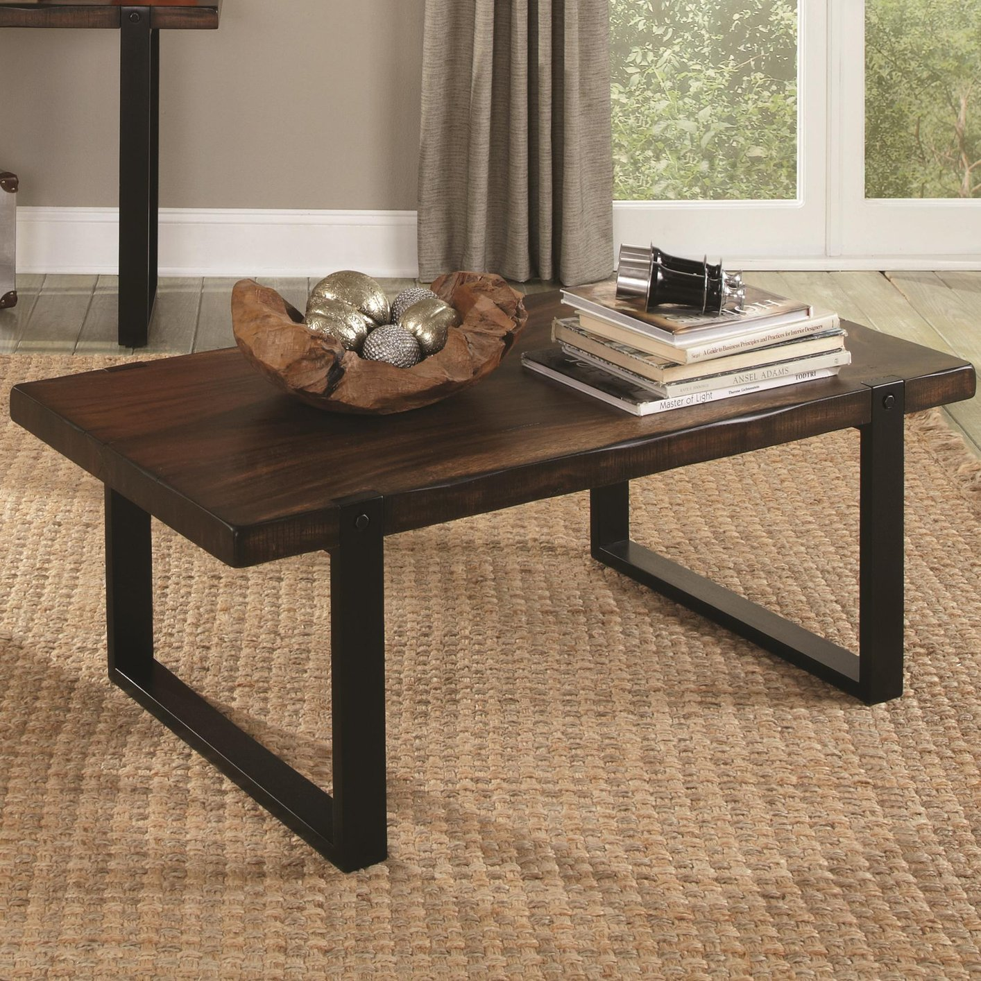 Coaster 703428 Black Wood Coffee Table Steal A Sofa