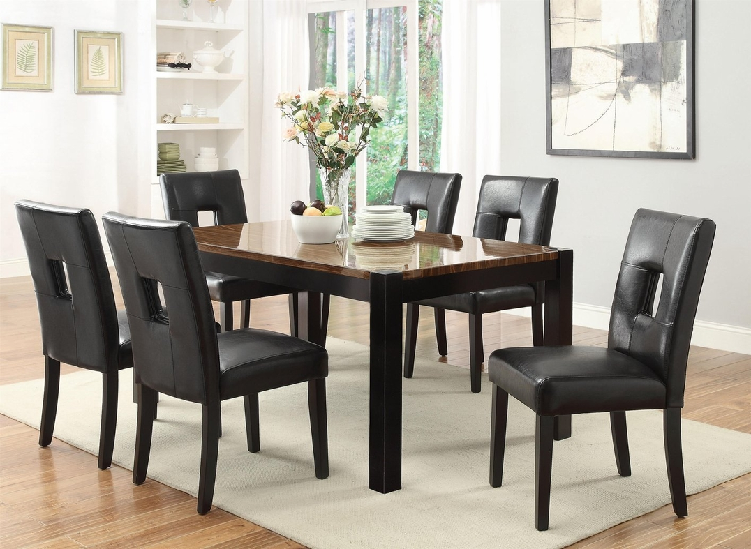 Coaster 103611 Black Wood Dining Table