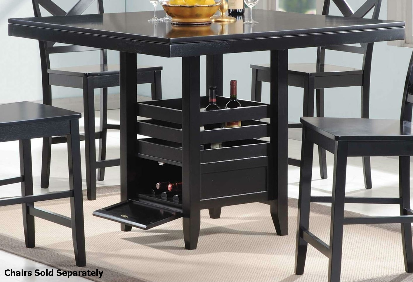 Coaster 104838 Black Wood Dining Table