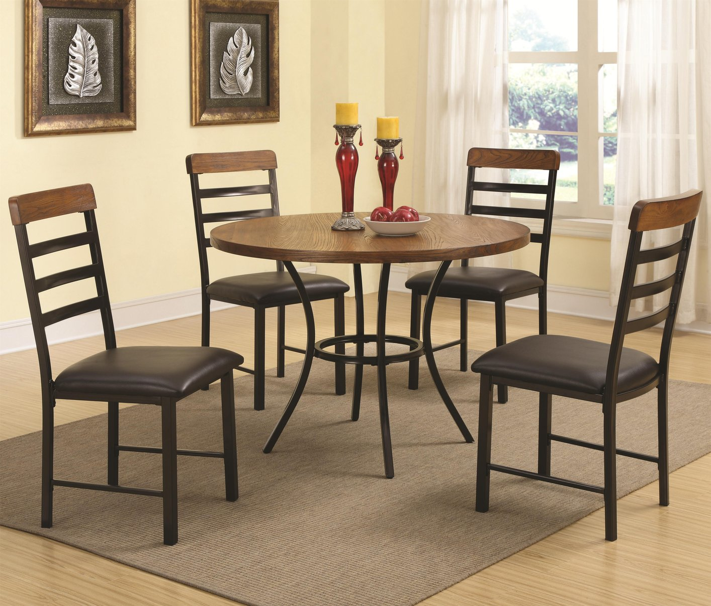black wood dining table and chair set - Black Wood Dining Table And Chairs
