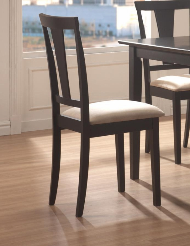 Coaster n Black Wood Dining Table and Chair Set