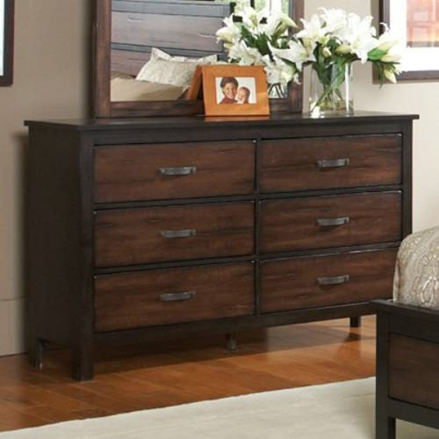 shipping canyon overstock home garden preston style century drawer black free palm dresser product mid today cherry