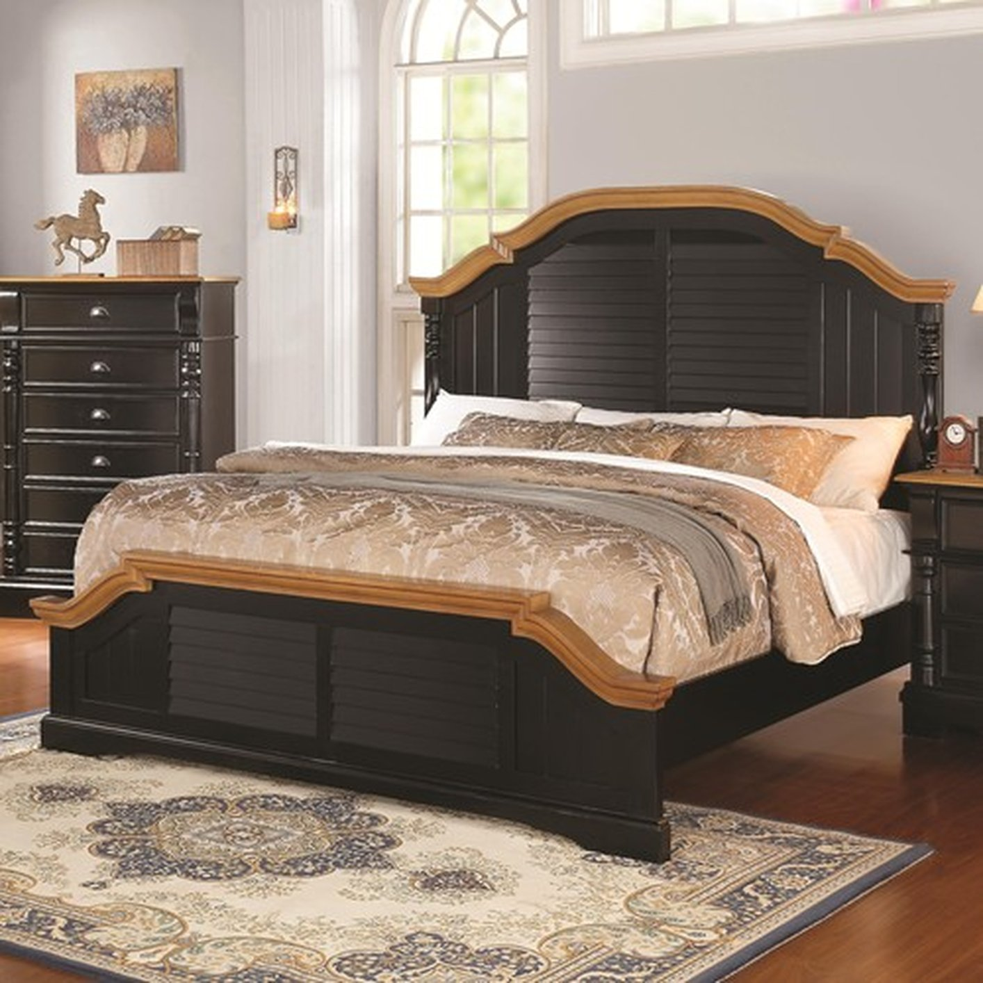 Black Wood Eastern King Size Bed Steal A Sofa Furniture