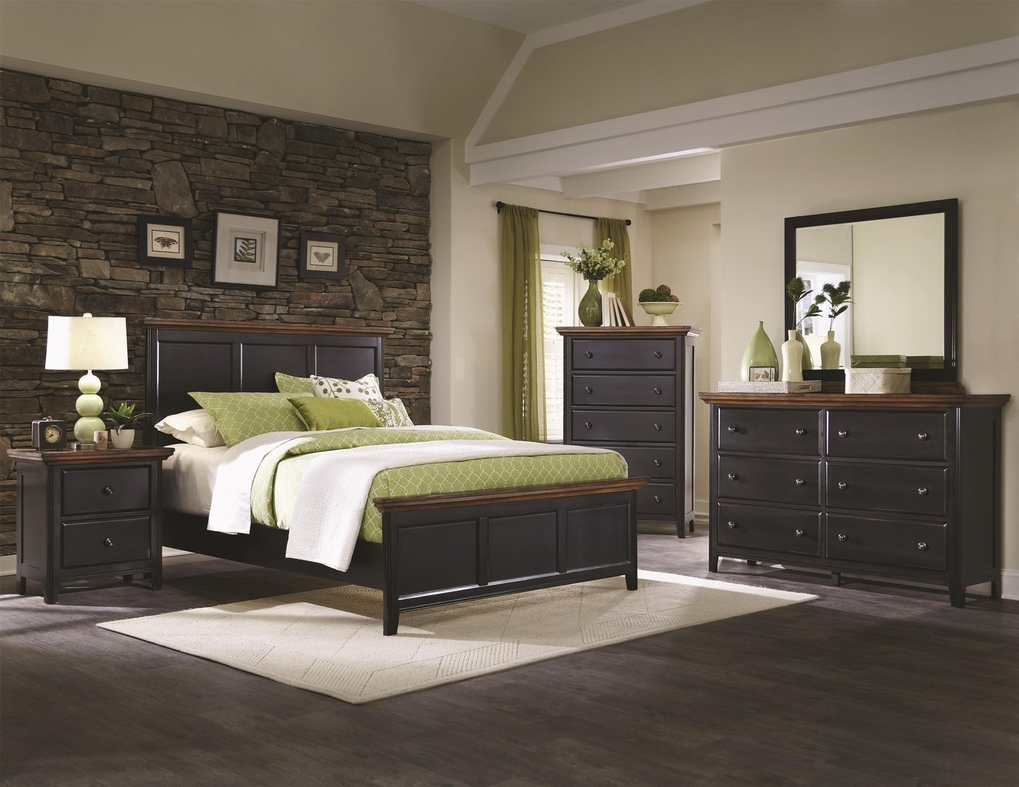 Black Rustic Bedroom Furniture black wood full size bed - steal-a-sofa furniture outlet los