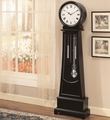 Black Wood Grandfather Clock