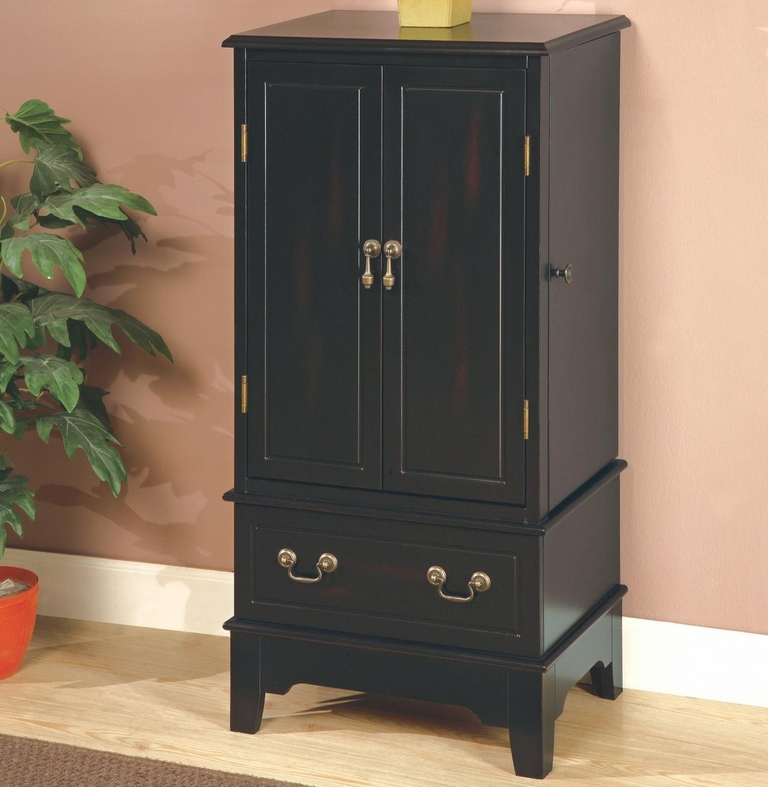 Black Wood Jewelry Armoire StealASofa Furniture Outlet Los