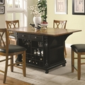 Brown Wood Kitchen Island