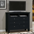 Black Wood Media Chest