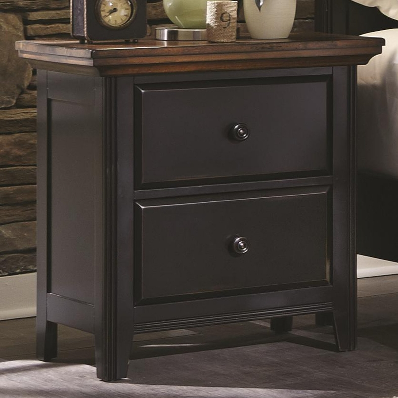 Brown Wood Nightstand Steal A Sofa Furniture Outlet Los