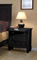 Black Wood Nightstand