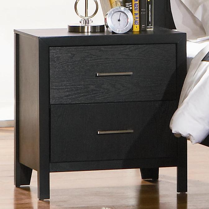 Black Wood Nightstand Steal A Sofa Furniture Outlet Los