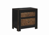 Segundo Black Wood Nightstand