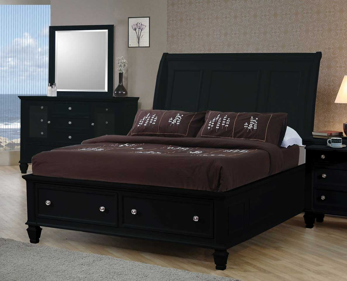 Black Wood Queen Size Bed Steal A Sofa Furniture Outlet