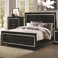 Black Wood Queen Size Bed