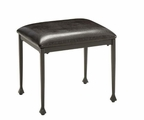Black Wood Stool
