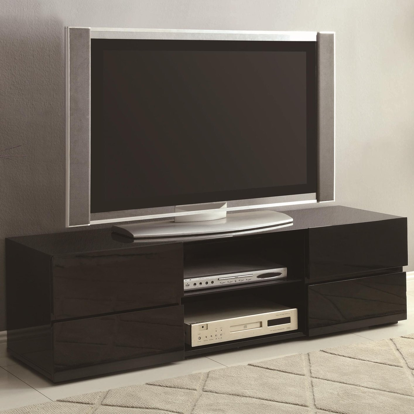Coaster 700841 Black Wood Tv Stand Steal A Sofa