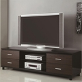 Black Wood TV Stand