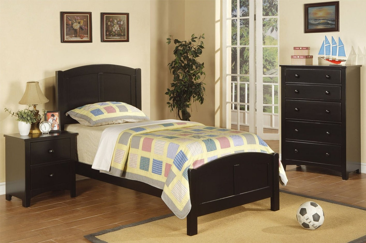 Black Wood Twin Size Bed Steal A Sofa Furniture Outlet