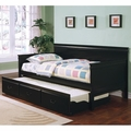 Black Wood Twin Size Day Bed