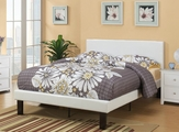 Blossom White Leather Full Bed