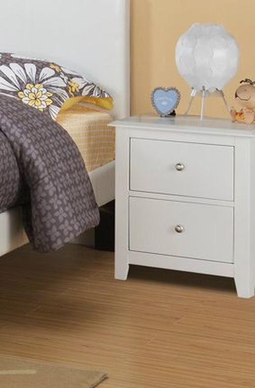 White Wood Nightstand Steal A Sofa Furniture Outlet Los