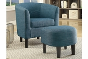 Blue Fabric Accent Chair