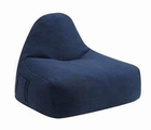 Blue Fabric Armless Chair