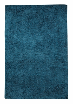 Blue Fabric Floor Rug