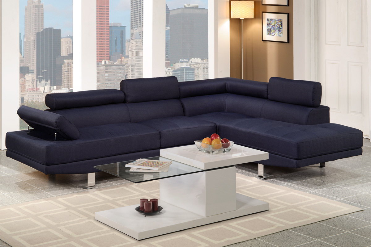 Blue Fabric Sectional Sofa Steal A Sofa Furniture Outlet Los