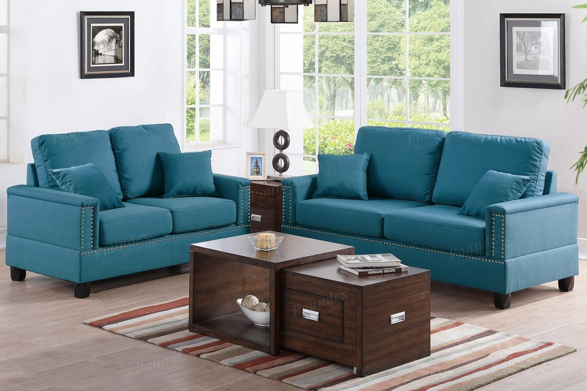 arri blue fabric sofa and loveseat set steal a sofa On sofa and loveseat set