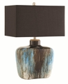 Blue Fabric Table Lamp
