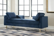 Blue Metal Chaise Lounge