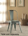 Blue Metal Dining Chair