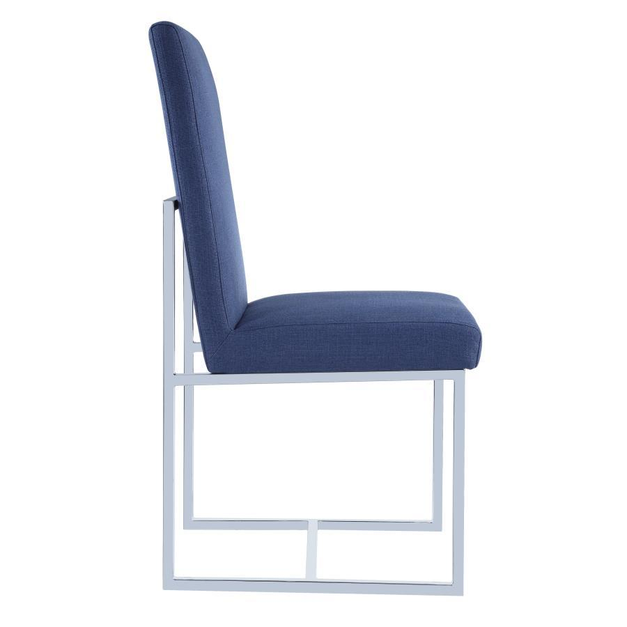 Blue Metal Dining Chairs blue metal dining chair - steal-a-sofa furniture outlet los angeles ca