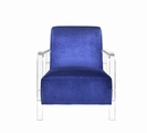 Blue Plastic Accent Chair