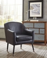 Blue Wood Accent Chair