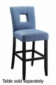 Blue Wood Dining Chair