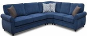 Blue Wood Sectional Sofa
