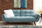 Blue Wood Sofa Bed